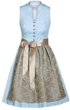 Vintage Landhaus Kleid Brenda Blüten Blumenmuster Rockabilly Retro 50er blau