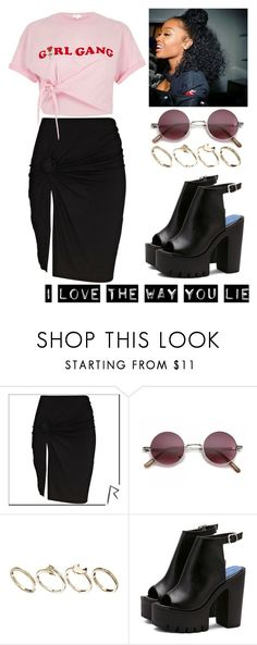"""""""Girl Gang"""" by meyarose31 ❤ liked on Polyvore featuring To The Black, ASOS and River Island"""