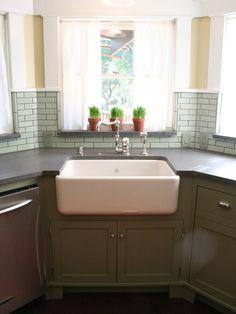 mind having a corner kitchen sink if it looked like this - Corner Kitchen Sink
