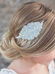 Venusvi Elastic Fabric Headbands Rhinestone Headband Flower Girl Headband Crystal Headband Bridal Headband Gatsby Headband Bling Headband Wedding Headband -- See this great product.(This is an Amazon affiliate link and I receive a commission for the sales)