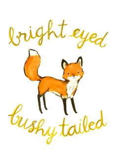 'Bright Eyed & Bushy Tailed' Fox Print