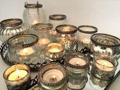 Antique Style Glass & Metal Vintage Tea Light Candle Holder Wedding Decoration #HomesonTrend