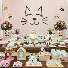 Can Cats Eat Chocolate Baby Shower Decorations For Boys, Birthday Decorations, Birthday Party Themes, Kitten Party, Cat Party, Cat Birthday, Animal Birthday, Adult Party Themes, Rosalie