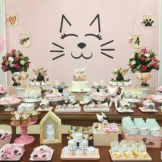 Can Cats Eat Chocolate Kitten Party, Cat Party, Cat Birthday, Animal Birthday, Birthday Decorations, Birthday Party Themes, Adult Party Themes, Rosalie, Ballerina Party