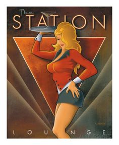 The Station Lounge Posters van Michael L. Kungl