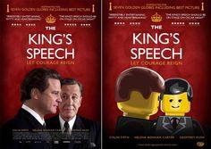 Pósters de cine hechos con LEGO: El discurso del rey The Kings Speech