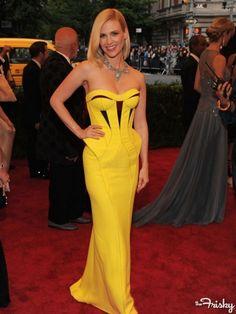 January Jones (Costume Institute Gala).  Posh Spice would be jealous.