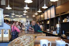 Inside of original Starbucks in Pike Place in Seattle.
