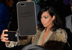 Kim Kardashian's favourite LuMee selfie phone case: Does...: Kim Kardashian's favourite LuMee selfie phone case: Does it… #KimKardashian