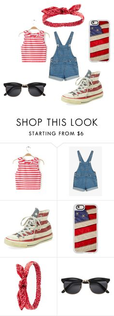"""""""4th of july outfit"""" by aleschmitz-reed on Polyvore featuring Monki, Converse, Casetify and Charlotte Russe"""
