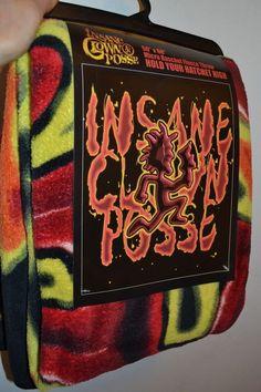 "2011 ICP Insane Clown Posse Fleece Throw Blanket Hatchet FLAMES 45"" by 60"""