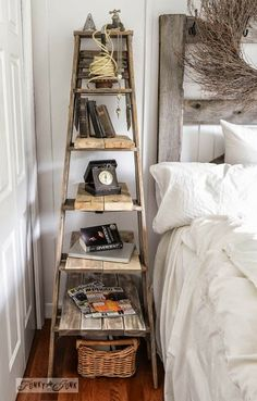 I like this ladder, it's not too permanent!