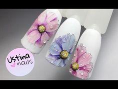 Дизайн ногтей. Рисуем лилии - YouTube