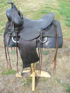 Vintage Highback Collins and Morrison Western Saddle