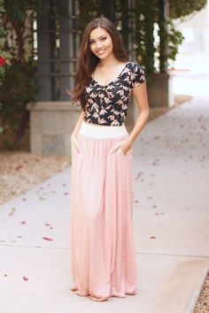 In the Moment Pocket Maxi Skirt |3 Colors| – Boutique Amore