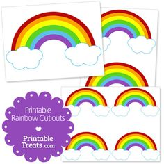 picture relating to Free Printable Rainbow called 137 Least difficult Rainbow Get together Printables visuals within just 2016 Social gathering