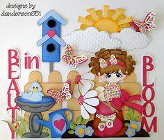 Beleza Flower Girl Paper piecing Premade 4 fronteira danderson651 Álbum De Scrapbook in Artesanato, Scrapbooking e artesanato em papel, Páginas pré-montadas de scrapbooking | eBay