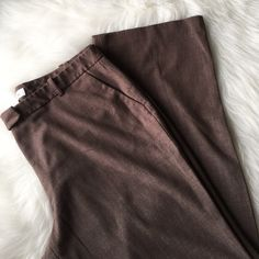 """Office Pants Light brown, gently loved but missing waist button. No rips, stains or tears. Inseam is 32.5"""" waist is 38"""" no room for stretch. {materials: 67% polyester - 29% rayon - 4% spandex} Priced accordingly •NO TRADES• Calvin Klein Pants Trousers"""