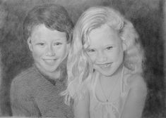 Custom Portrait From Your Photo - 5x7 Original Family Wedding Child Children Pencil Sketch Art Drawing from Picture