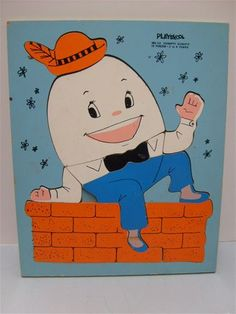 vintage humpty dumpty puzzle    - oh geez have one in the basement.  :)