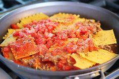 Лазанья на сковороде - пошаговый рецепт с фото на Повар.ру
