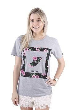 Camiseta Hawewe Surf Quilha Floral Mescla - Hawewe Surf | Camisetas, Moletons, Vestidos e Bonés