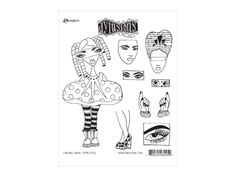 Dylusions Cling Mount Stamps Curious Corrin