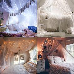 Qual é a melhor forma de colocar luzes na sua cama?