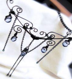 gothica wirework necklace Handmade jewelry