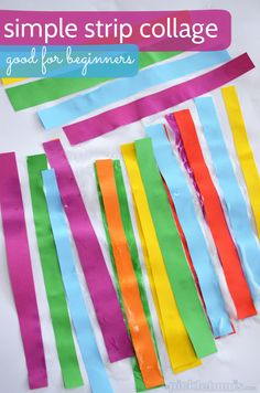 hand, easi art, simple art for toddlers, contact paper, paper strip