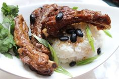 A big event this week in Asia is the Chinese Lunar New Year, a moveable feast annually so I'm cooking Asian Braised Pork Ribs with Black Beans. If you're travelling to the Philippines or other Steamed Pork Ribs Recipe, Pork Rib Recipes, Filipino Recipes, Asian Recipes, Filipino Dishes, Filipino Food, Braised Pork Ribs, New Years Dinner, A Moveable Feast