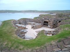 Rock houses located on the main island of Orkney, Skara Brae is one of the best preserved Stone Age villages in Europe.