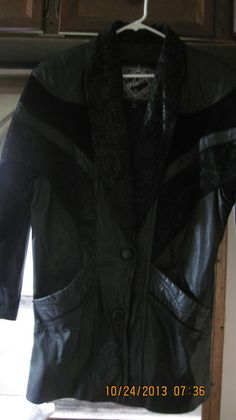 80'Z LEATHER & SUEDE WINLIT DUSTER women's medium ROCK THIS with LINGERIE 2nite XX