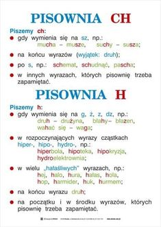 ortografia i gramatyka - kas. School Staff, School Notes, Polish To English, Learn Polish, French Numbers, Polish Language, School Hacks, Learn French, Study Tips