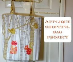 Applique shopping bag tutorial