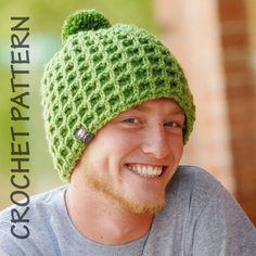 Little Waffle Beanie crochet hat pattern