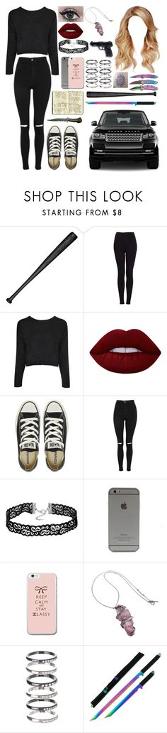 """Untitled #619"" by skh-siera18 ❤ liked on Polyvore featuring Elisabeth Weinstock, Topshop, Boohoo, Lime Crime, Converse, M.N.G, Moleskine and All Black"