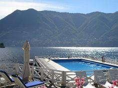 O hotel Villa D'este, no Lago Como, na Itália, foi projetado em 1568 pelo arquiteto Pellegrino Pellegrini, com o objetivo de ser uma residência privada. A propriedade só se tornaria um hotel no século XIX e a piscina viria apenas na década de 1960 para deixar o endereço ainda mais lindo. Foto: Divulgação