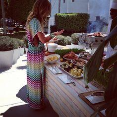 """Easter brunch @Delano #happy#easter#brunch#miami#missoni#dress#delicious#food#☀"""