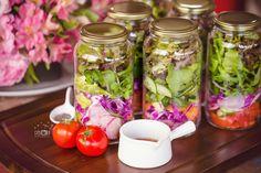 Salada de verduras no pote!