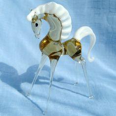 Horse hand-made art glass figurine made in Russia