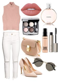 Untitled #3572 by deavlyn on Polyvore featuring polyvore, fashion, style, Diesel Black Gold, H&M, Rupert Sanderson, Chloé, The Row, Ilia, Lime Crime, MAC Cosmetics, Chanel and clothing