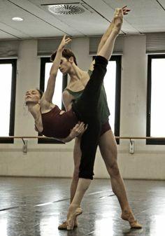 Natalia Osipova, Claudio Coviello rehearsing Swan Lake
