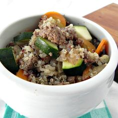 Beef and Quinoa Soup. Find more great beef recipes at www.sundaysuppermovement.com. #WeekdaySupper #SundaySupper