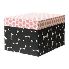 "KVITTRA Box with lid - black, 12 ½x9 ¾x7 ¾ "" - IKEA"