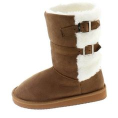 Shoes of Soul Kids Buckle Winter Boots, Girl's, Size: 12, Beige