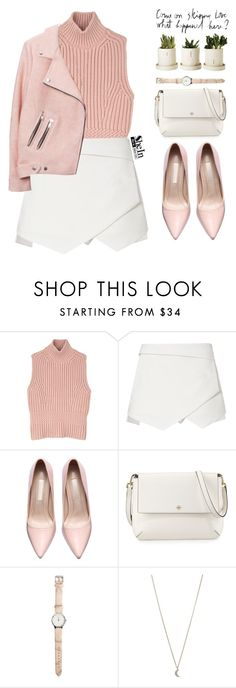 """""""Pink bullets"""" by mihreta-m ❤ liked on Polyvore featuring Diesel Black Gold, Tory Burch and Minor Obsessions"""