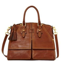 Florentine Clayton Satchel, Chestnut from Dooney & Bourke on shop.CatalogSpree.com, your personal digital mall.