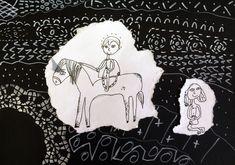 Svatý Martin na bílém koni. Práce mladších školáků našeho výtvarného studia. Studios, Darth Vader, Snoopy, Fictional Characters, Fantasy Characters