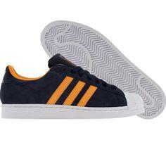 Adidas Superstar II (dark indigo / halo ra / white). $74.99